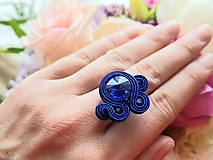 Lola soutache ring - modré