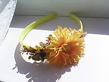 Ozdoby do vlasov - Kvetinová čelenka do vlasov ... slnečný kvietok ... - 10780841_