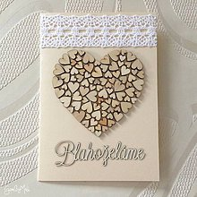 Papiernictvo - Srdiečkový telegram - doplnok k srdiečkovému srdcu (S čipkou) - 10779932_
