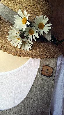 Sukne - Natur šatová sukňa na gombíky - 10780493_