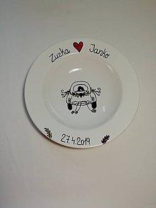 Darčeky pre svadobčanov - Svadobný tanier - 10779787_