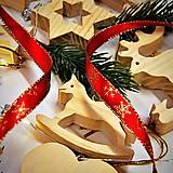 Dekorácie - Sada Vianočných Ozdôb 14ks Borovicové Drevo - 10780453_
