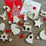 Dekorácie - Sada Vianočných Ozdôb 14ks Javorové drevo - 10780523_