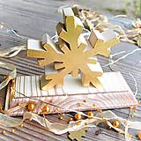 Dekorácie - Snehová Vločka Vianočná Dekorácia - 10780578_