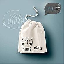 Iné tašky - Vrecko LittleLucy - medvedík - 10780587_