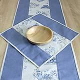 Úžitkový textil - LINA 2-kvetinové šálky na sivom melíre-štvorec - 10779872_