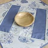 Úžitkový textil - LINA 2-kvetinové šálky na sivom melíre-štvorec - 10779873_