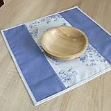 Úžitkový textil - LINA 2-kvetinové šálky na sivom melíre-štvorec - 10779875_