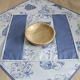 Úžitkový textil - LINA 2-kvetinové šálky na sivom melíre-štvorec - 10779876_