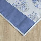 Úžitkový textil - LINA 2-kvetinové šálky na sivom melíre-štvorec - 10779877_