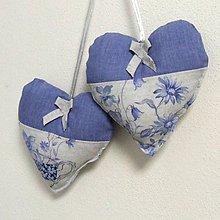 Úžitkový textil - LINA-kvetinové šálky na sivom melíre-srdiečko 13x13 - 10779794_