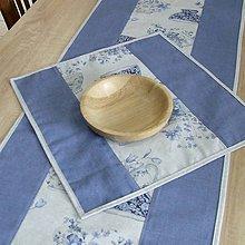 Úžitkový textil - LINA 2-kvetinové šálky na sivom melíre-štvorec - 10779871_