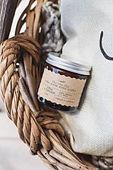 Svietidlá a sviečky - Sójová sviečka 130g v hnedom sklíčku (Višne v čokoláde) - 10780649_