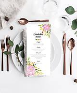 Papiernictvo - Svadobné menu - SOFT PINK - 10781364_