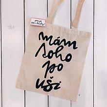 Veľké tašky - Ručne maľovaná bavlnená taška / Mám toho po uši - 10781447_