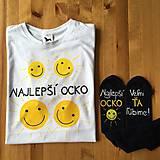 Oblečenie - Maľované pánske tričko pre najlepšieho ocka slniečok - 10782067_