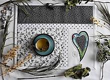 Úžitkový textil - Čierna a biela No.5 - 10781609_