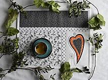 Úžitkový textil - Čierna a biela No.6 - 10781667_