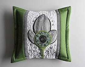 Úžitkový textil - Vankúše - kvet - LIMITED EDITION - 10781718_