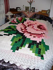 Úžitkový textil - Vôňa ruže, posteľný prehoz - deka - 10781040_