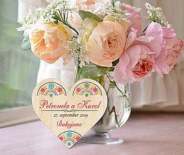 Darčeky pre svadobčanov - Svadobná magnetka - 10783056_