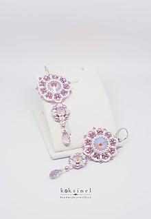 Náušnice - Elegance Violet - 10783019_
