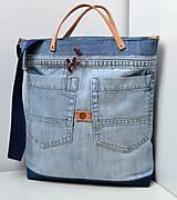 Veľké tašky - Veľká riflová taška - 10782455_