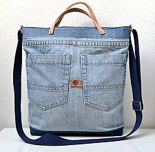 Veľké tašky - Veľká riflová taška - 10782453_