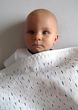 Textil - !Zľava! INDIGO detská prikrývka - Dážď - 10782604_