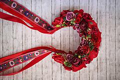 Ozdoby do vlasov - Folk kvetinová parta z kolekcie - 10782255_