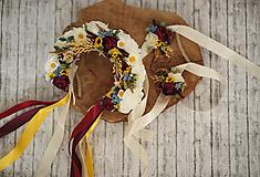 Ozdoby do vlasov - Svadobná ľudová kvetinová parta - 10782256_