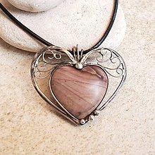 Náhrdelníky - Jena Heart náhrdelník - 10783168_