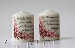 Svietidlá a sviečky - Duo dekoračných sviečok pre pani učiteľky - 10782512_