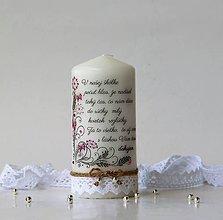 Svietidlá a sviečky - Dekoračná sviečka pre pani učiteľky v škôlke - 10782503_