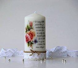 Svietidlá a sviečky - Dekoračná sviečka pre pani učiteľky v škôlke - 10782509_