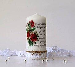 Svietidlá a sviečky - Dekoračná sviečka pre pani učiteľky - 10782547_