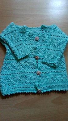 Detské oblečenie - Háčkovany svetrik - 10783355_