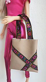 Hračky - Koženková kabelka pre Barbie - 10783061_