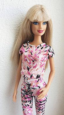 Hračky - Farebné tričko pre Barbie - 10783046_