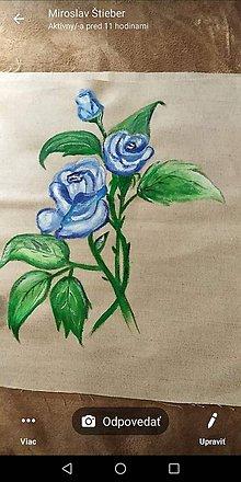 Kresby - Ručne maľovaný vankúšik - 10782412_