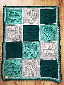 Textil - Háčkovaná deka pre malého cestovateľa - 10782552_