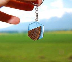 Kľúčenky - Kľúčenka - Sumachovo-živicový hexagon - 10783475_