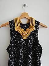 Náhrdelníky - Viazaný náhrdelník - IV.  (Žltá) - 10782745_