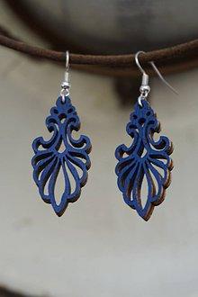 Náušnice - Náušnice - Ornament v modrom - 10783708_
