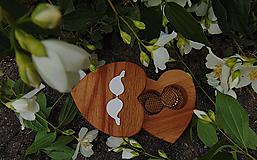 Prstene - Krabička na svadobné prstene-srdiečko - 10782776_