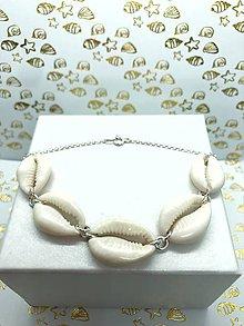 Náramky - Luxusný mušlový náramok strieborný - 10783010_