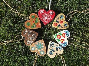 Dekorácie - Drevené srdce - 10782970_