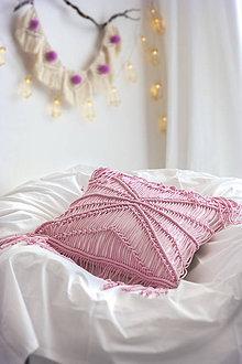 Úžitkový textil - Obliečka na vankúš macrame. - 10783812_