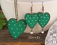 Heart dots Green // set