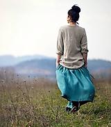 Sukne - Maxi sukně z mušelínu - smaragdově zelené - 10783939_